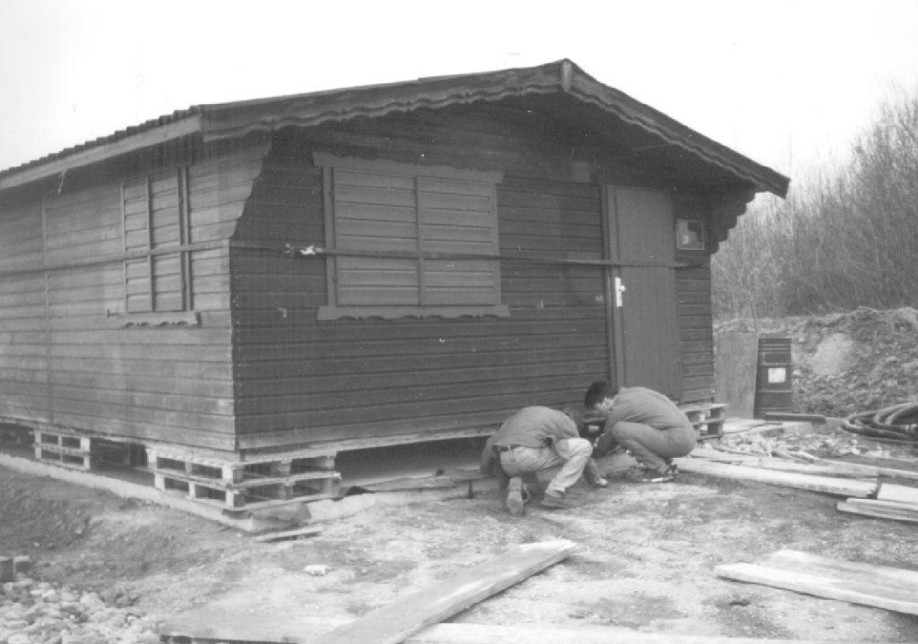 Umzug 2 - Hütte auf Paletten